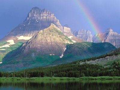 الجبال والتوازن الأرضي  Swiftcurrent%20Lake,%20Glacier%20National%20Park,%20Montana